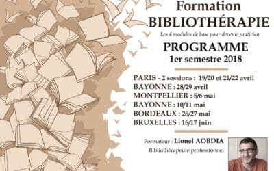 Formations bibliothérapie 2018