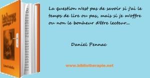 Bibliothérapie Daniel Pennac
