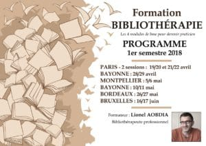 Formations bibliothérapie France - Programme